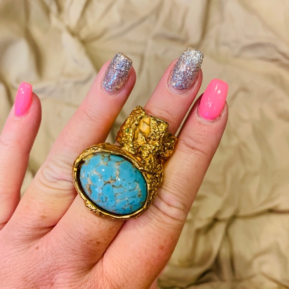 Yves Saint Laurent Jewelry - Yves Saint Laurent Turquoise ring